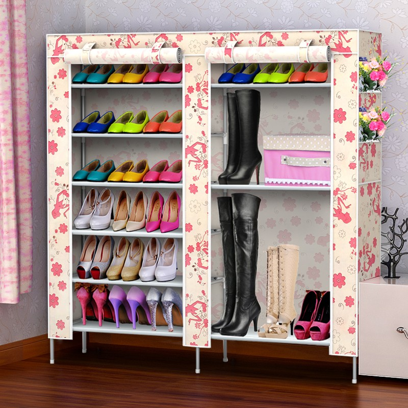 Simple shoe rack simple multi-layer stainless steel hostel housed Shelves<br><br>Aliexpress
