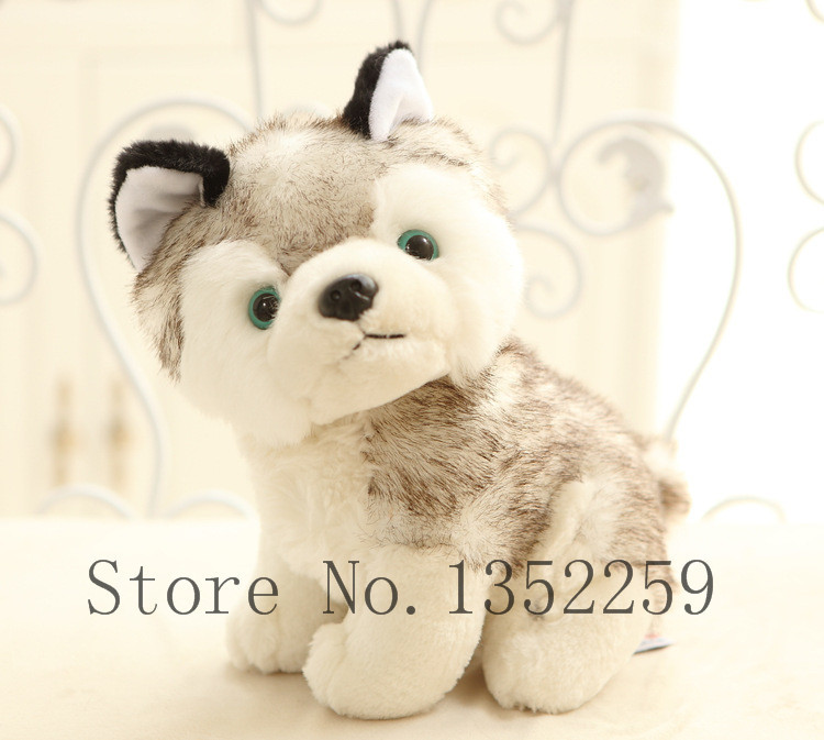 plush animal toys cartoon stuffed dog plush husky dolls 18cm(China (Mainland))