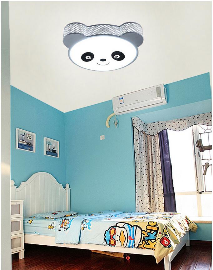 Panda Cute Ceiling Lamp Modern Ceiling Light Kids Bedroom 220V Light Fixtures Led Iron Ceiling Light Fixture Bedroom Furniture(China (Mainland))