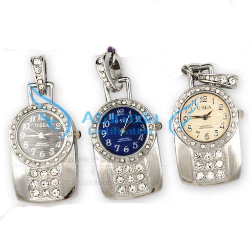 Authentic metal pocket watch USB Flash drive 32gB 16gB 8gb 4gb pocket watch fashion crystal U disk pen drive pendrive 64gb(China (Mainland))