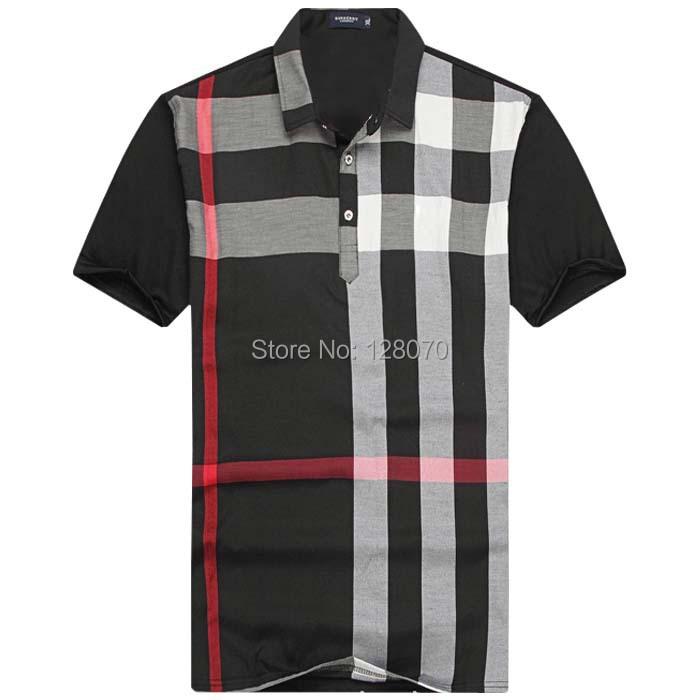 B119 M XXL Famous Brand Man T Shirt Summer 2015 Turn Down Collar Mens Tee Shirts