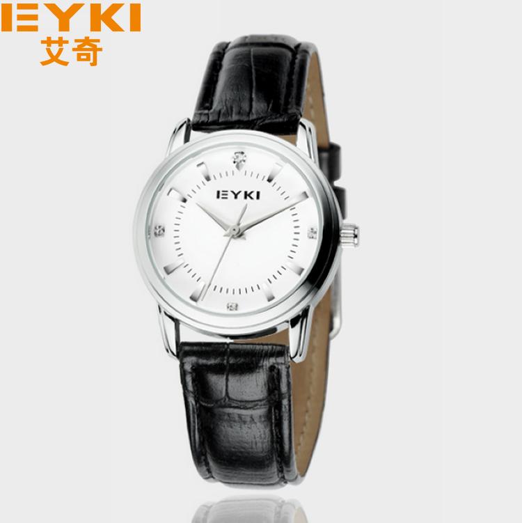 EYKI Women Casual Watch 10M Water-proof Quartz Leather Band Quality Promotional Watch(China (Mainland))