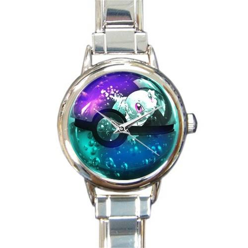 (Round Italian Charm Watch)Pokemon card Jeni turtle in the crystal ball(China (Mainland))