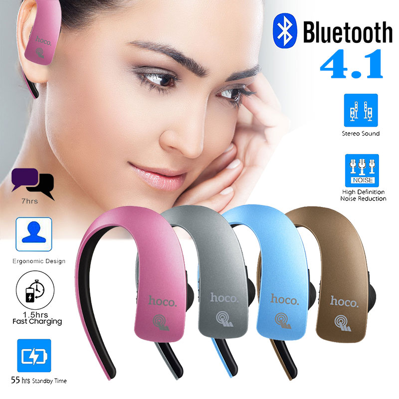 HOCO E10 Touchable Business Sports Wireless Bluetooth V4.1 Earphone with Mic for IPhone 7 Samsung S7 Streamline Hanging Ear(China (Mainland))