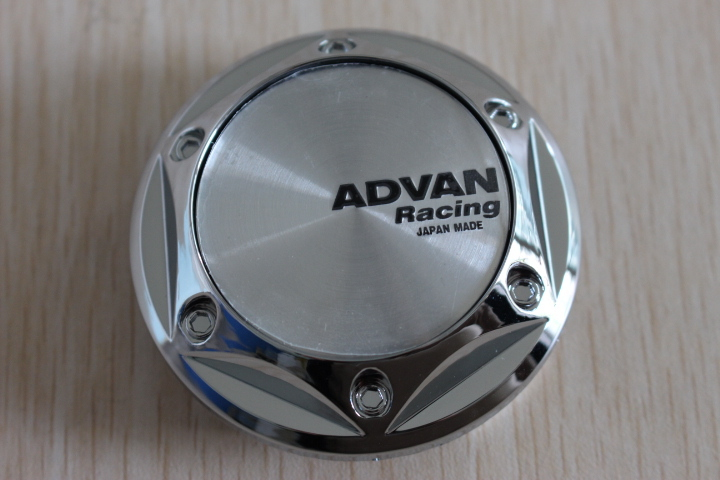 68mm Chrome Car Styling JAPAN ADVAN Racing Sticker Wheel Center Cap Cover Hub - SIXTH POWER store