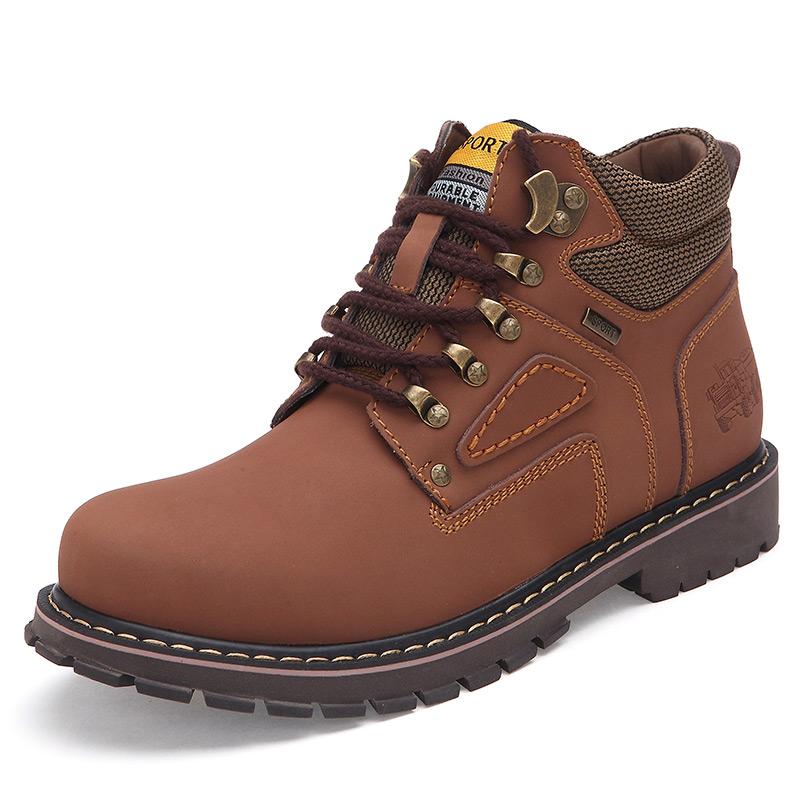 2015 Winter Casual Men Shoes Men Boots Genuine Leather ...