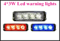 High intensity 12V 24VDC 4 3W Car external light surface mounting Grill warning light Led lightheads