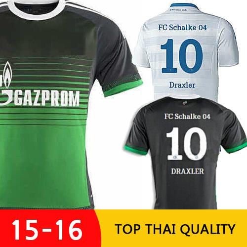 thai quality fc schalke 04 15 16 soccer jersey schalke 2015 2016 meyer neusadter draxler. Black Bedroom Furniture Sets. Home Design Ideas