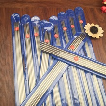 Free Shipping 55PCS/SET 35cm stainless steel Straight knitting needles crochet hooks knitting needles set Size 6-16(China (Mainland))
