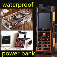 Оригинальный IP67 реального водонепроницаемый ударопрочный пыле мобильный телефон зарядное устройство длительным временем ожидания открытый армия сотовый телефон вибрации
