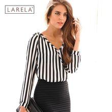 Women Blouses 2016 Summer Fashion Casual Office Lady Elegant Striped Shirts Women Chiffon Tops blusas Femininas HD0714