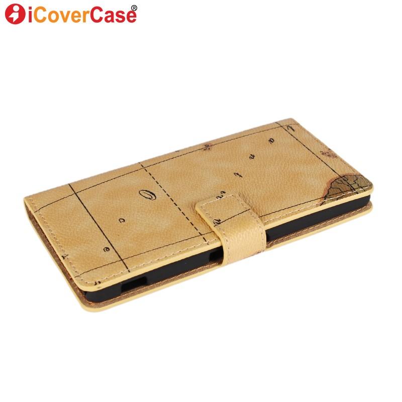 Cover for Sony Xperia M4 Aqua Case Capa Flip Wallet Leather for Sony Xperia M4 Aqua Dual Fundas Coque World Map Phone Cases(China (Mainland))