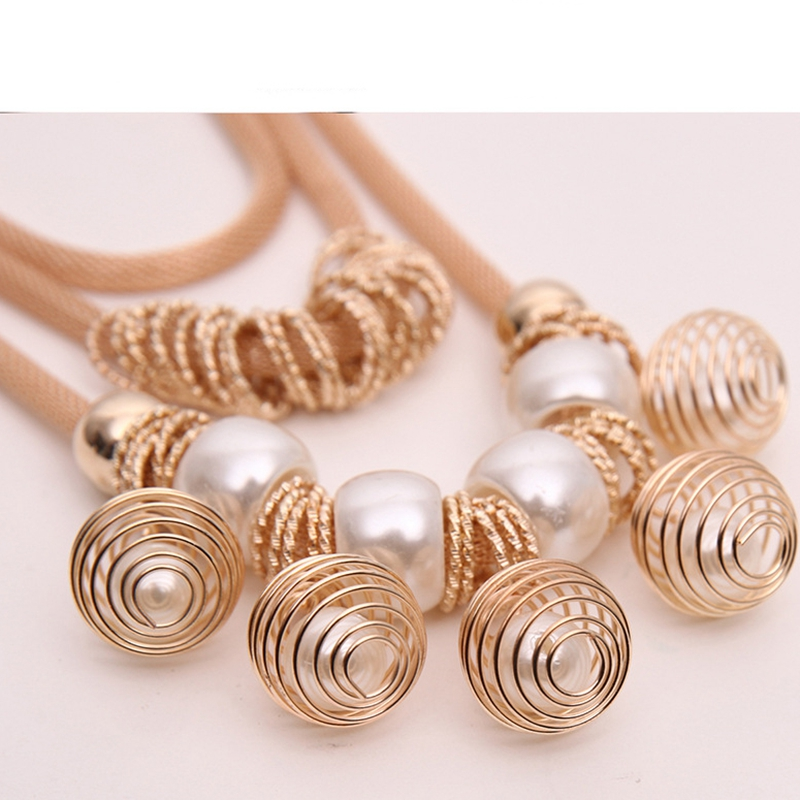 Women Pendant Statement Charm Multi-layer Droplet Tassels Chain Necklace Jewelry Accessories Party