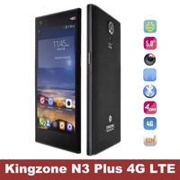 Original Kingzone N3 Plus 4G FDD LTE Phone 2G RAM 16G ROM MT6732 Quad Core Android 4.4 SmartPhone 5.0' 1280*720P IPS Screen
