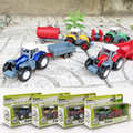 1 64 Children s Toys Farmer Farm Tractor Planting Machine Sprinkler Inertia Model Engineering Car Set