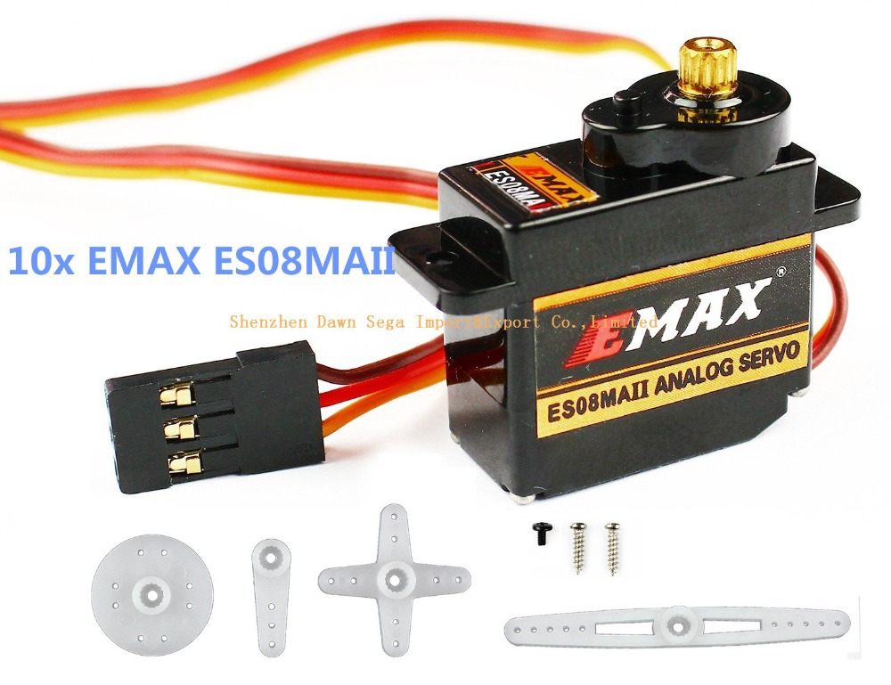 10x emax es08maii servo motor with mini metal gear torque for High speed servo motor