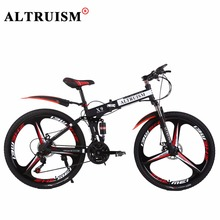 Buy Altruism X9 Pro 21 Speed Mountain Bike Steel Folding Bicycles Brand Bikes 24 inch Magnesium alloy Wheels Bikes Frame Black for $238.66 in AliExpress store