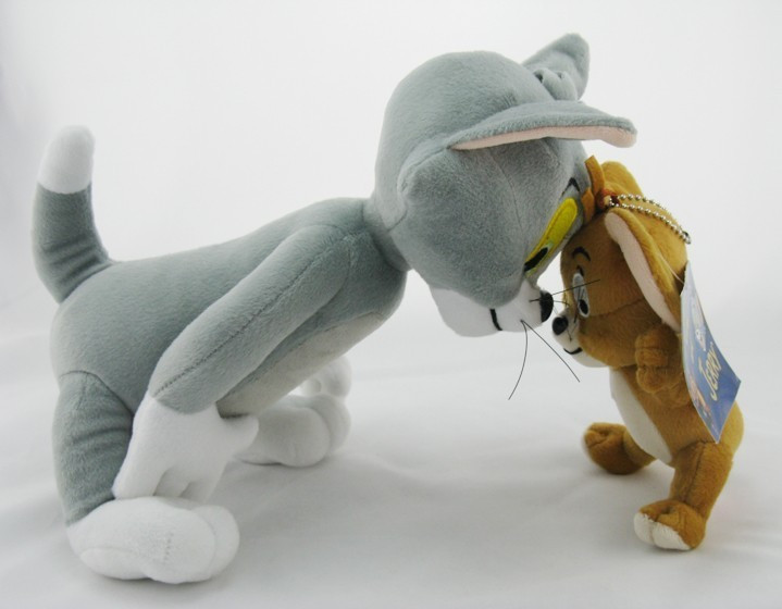 2pcs-lot-Baby-Toys-Cat-Tom-And-Jerry-Mouse-Plush-Stuffed-Toys-soft-Dolls-Boneca-Pelucia (3)