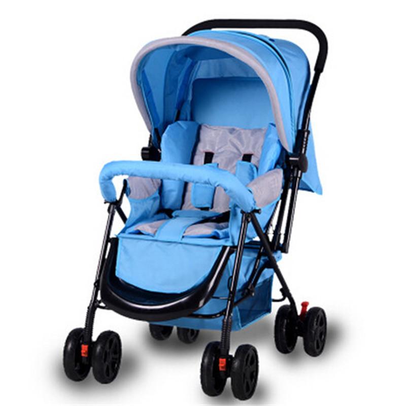 Коляски мода коляска легкий складной коляски детской коляски портативный коляски складной легкий двухместный колеса коляски