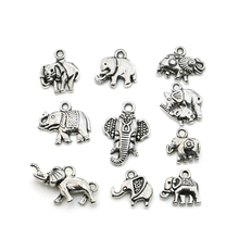 Buy Mixed Tibetan Silver Plated Animals Elephant Charms Pendants Jewelry Making DIY Accessories Charm Handmade Crafts for $1.08 in AliExpress store