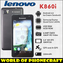 Lenovo K860i Quad Core 1.4G AH-IPS 5 Inch Super Clear Screen 2G RAM 16G ROM 2250mAh 1080P Video(China (Mainland))