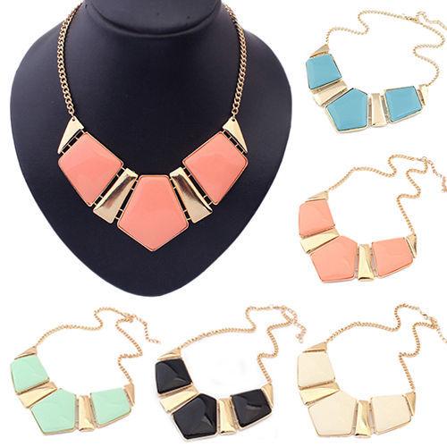 2016 Fashion Popular Gems Necklace Vintage Bib Statement Chain Chunky Collar Party - Big Jewelry World LTD store