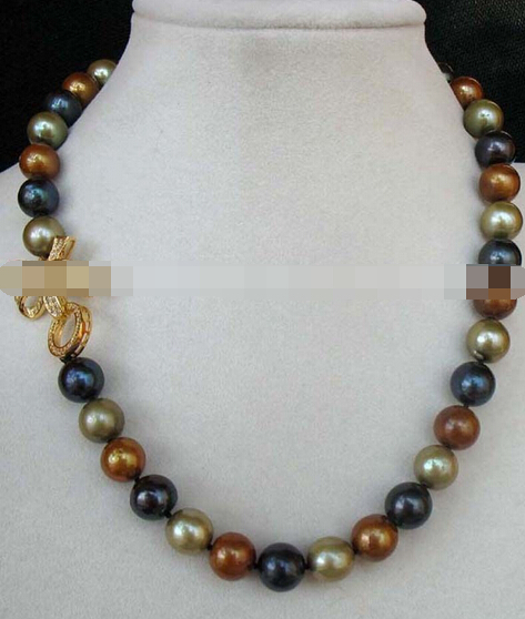 11.25 BIGGER! freshwater pearl round 10-11mm AA necklace 18<br><br>Aliexpress