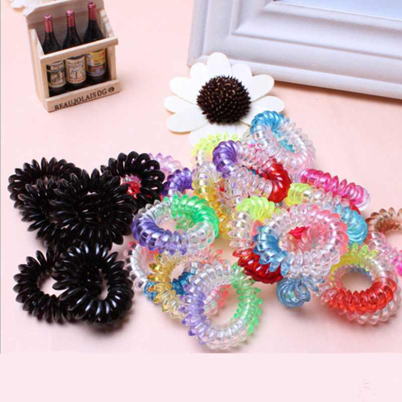 10pcs/lot Summer Style Women Hair Accessories Headband Telephone Line Elastic Hair Rope Hair Ring Scrunchies For Girl(China (Mainland))