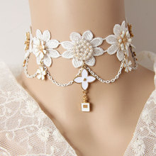 Gothic jewelry vintage lace necklaces & pendants women accessories choker necklace false collar statement necklaces (JL-84)(China (Mainland))