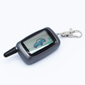 Russia Version LCD Remote Controller Key Fob Chain Keychain for Vehicle Security Two way car alarm