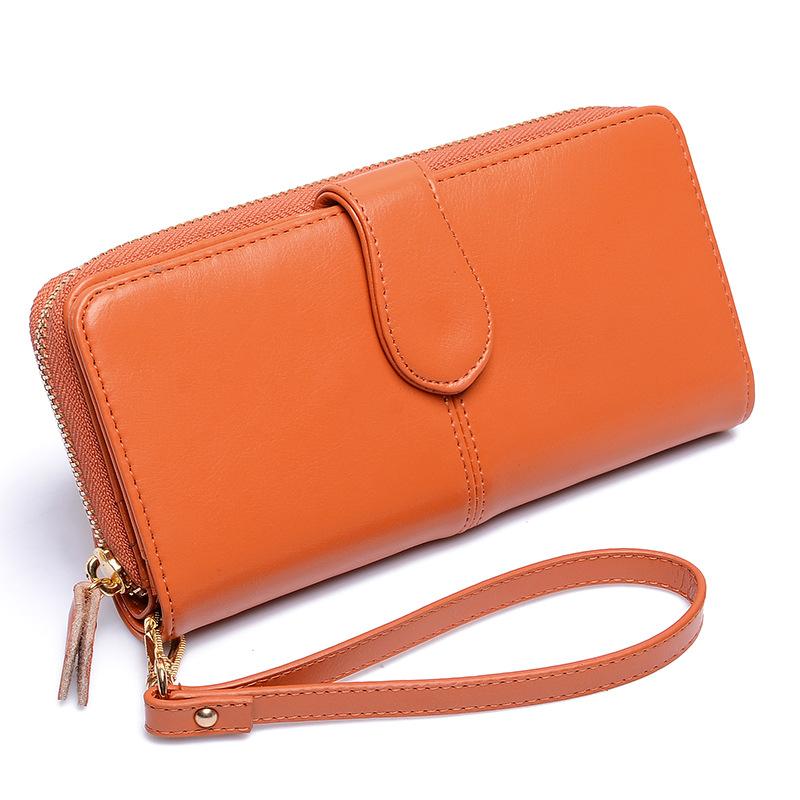 Genuine Leather Wallet Women Luxury Brand Long Womens