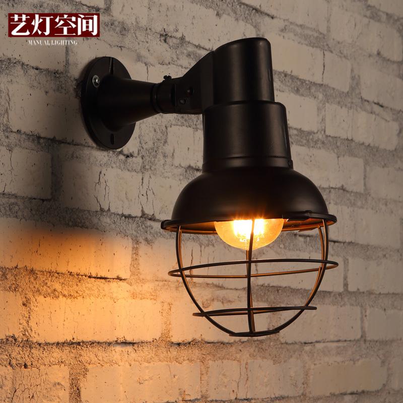 Arts and American retro light industrial space hotel corridor hallway wall lamp wall lamp American Village Cafe Bar(China (Mainland))