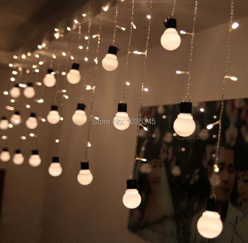 String Lights Backyard Led : Novelty Outdoor lighting 48Beads with10 big size 5cm ball String LED Starry Light Rope patio ...