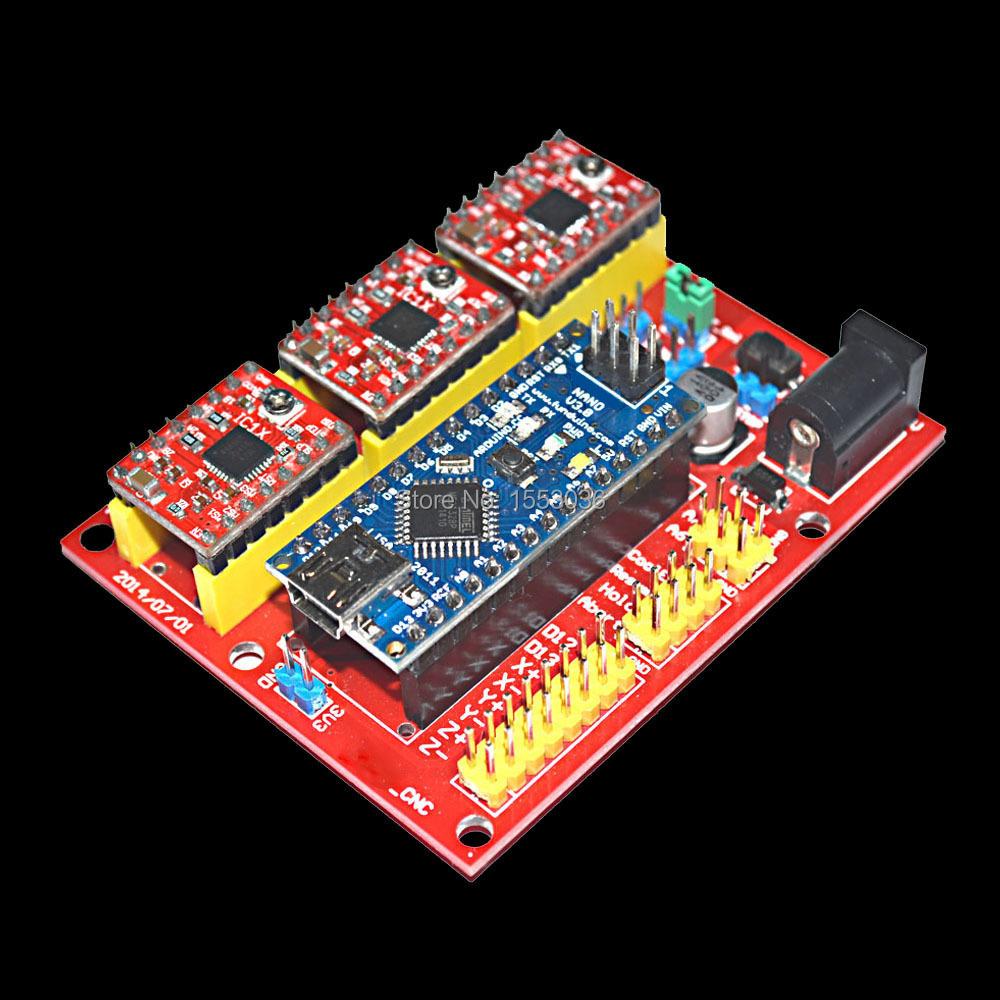 CNC Shield V4 A4988 Controller engraving machine kit RAMPS1.4 Reprap 3D Printer - DIY Toys store