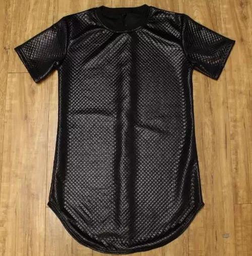 Summer Gold side zipper Men Tyga plaid pyrex ktz Black Kaviar new short Sleeve t shirt Leather men hip hop clothing Kanye Tee(China (Mainland))