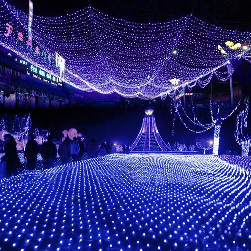 Led Net Lights Outdoor Christmas Decorations Garden