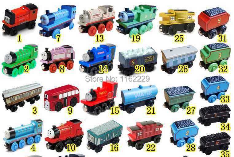 DHL Free Shipping 100pcs/lot Thomas And Friends Train Car Wooden Complete Set Of Car Toy Engine Train Toys(China (Mainland))