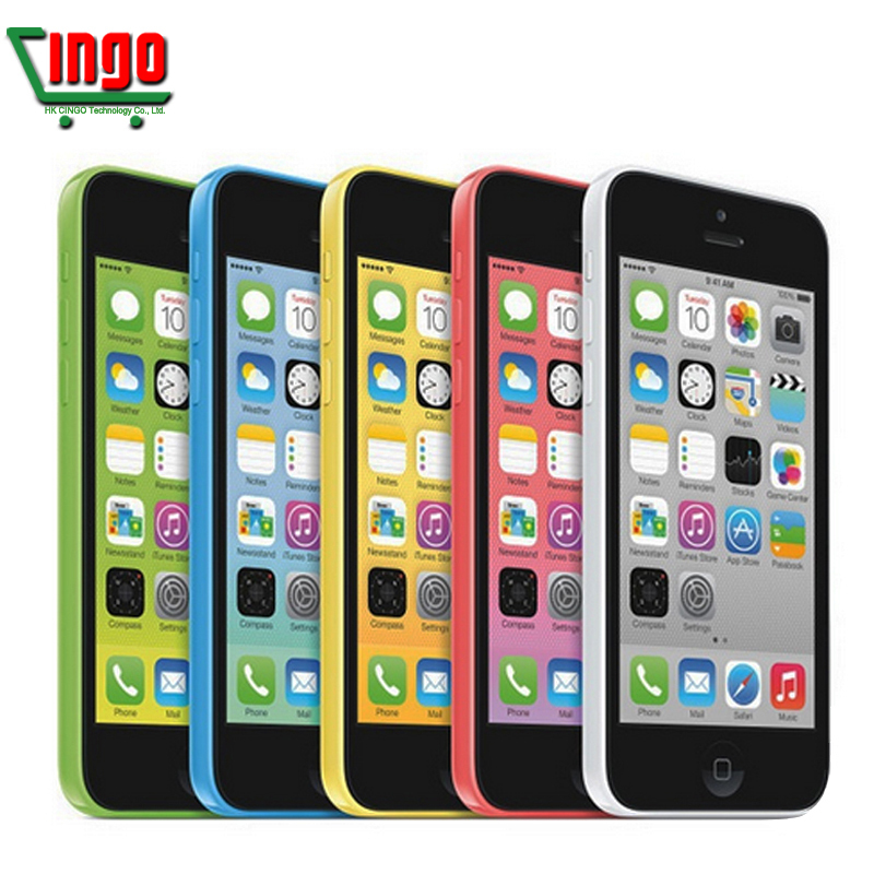 Original Unlocked Apple iPhone 5C Mobile Phone 16GB rom iphone 5C 8mp camera GSM/WCDMA iphone5c Best Quality Free shipping(China (Mainland))
