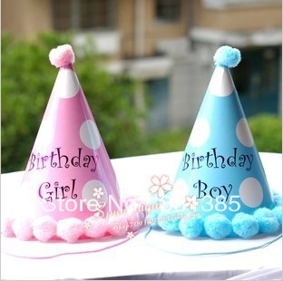Cotton candy birthday party supplies characters play a birthday party decoration round ideas pointed cap pink(China (Mainland))