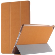 Top Quality Luxury Retro Deer Skin Leather Flip Case For iPad Air Three Fold Smart Sleep Wake Stand Tablets Cover(China (Mainland))