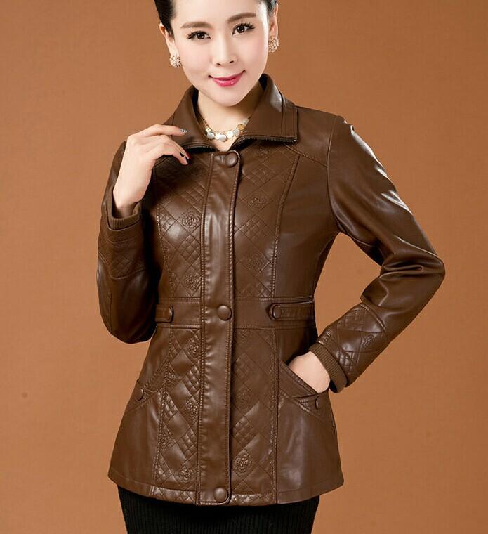 Куртка кожаная осень женские