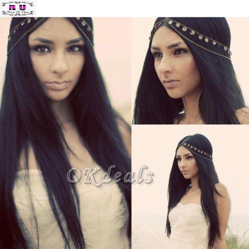 1 PC Hot Selling New Stylish Women Headband Metal Rhinestone Hair band Best Head Chain in Bohemia Style Jewelry(China (Mainland))