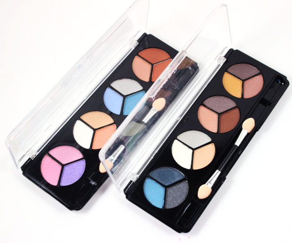 12 colors waterproof eyeshadow make up set ,eye colors,eyeshadow palette with make up brush,freeshipping by chinapost(China (Mainland))
