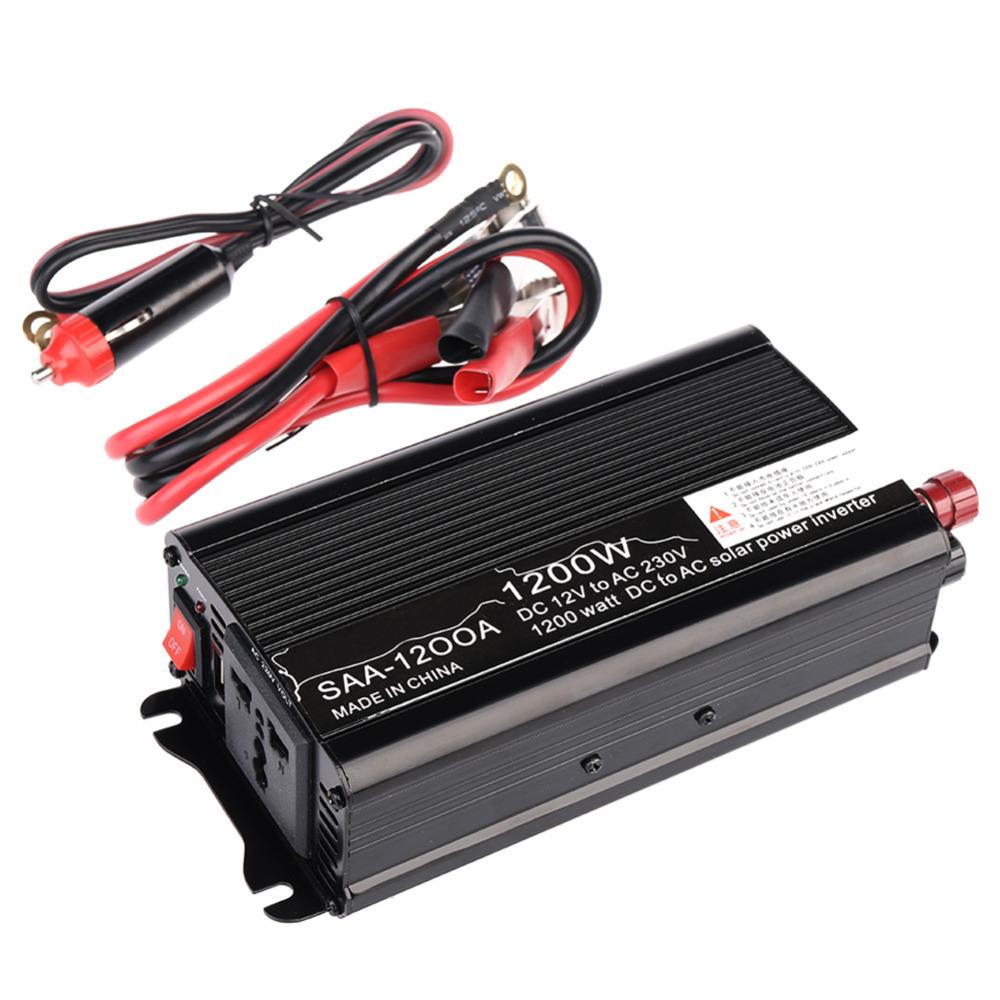 1 PC 1200W 12V-220V / 240V AC Household Car Solar Power Inverter Converter Adapter Modified Sine Wave Form(China (Mainland))
