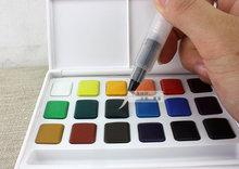Сакура 18 цвета , акварель коробка, С воды щеткой, Твердые акварели открытый, Легкие, Прекрасный подарок