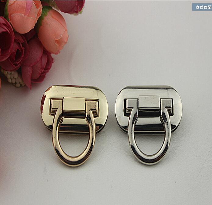 (5 pieces / lot) diy bag lock/hardware lock h gold silver bags lock hardware accessories metal twist lock bag + free shipping(China (Mainland))