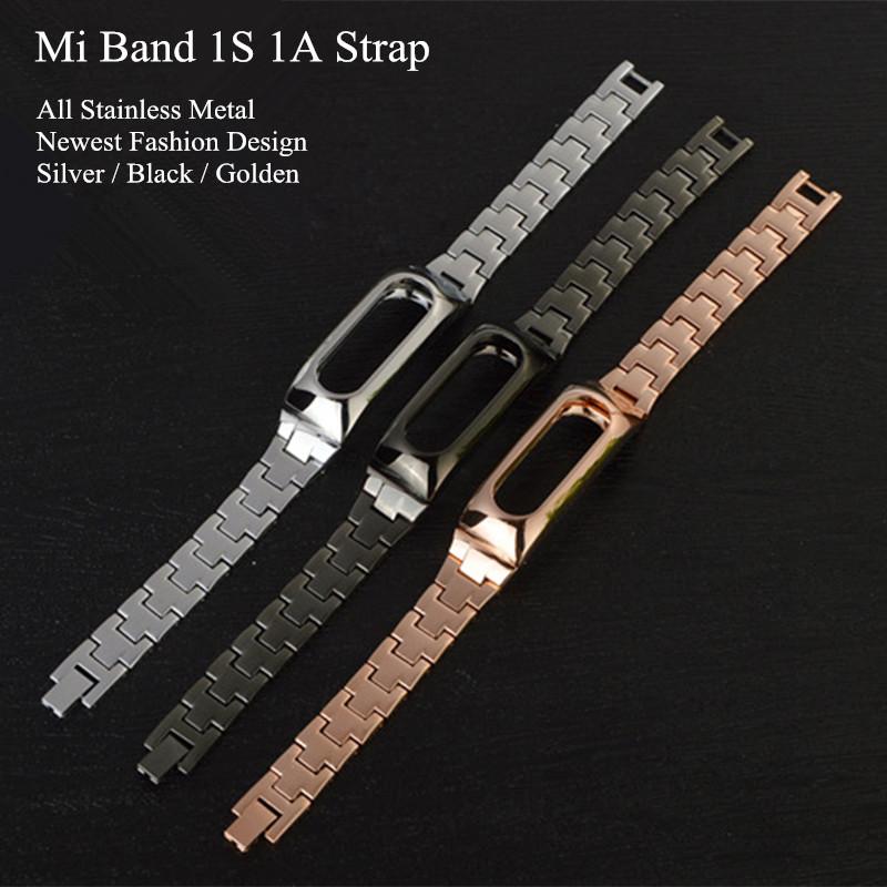 New Metal Xiaomi Mi Band 1S Wrist Strap For Original Xiaomi Miband Smart Bracelet Replace Leather Silicone Strap Belt <br><br>Aliexpress