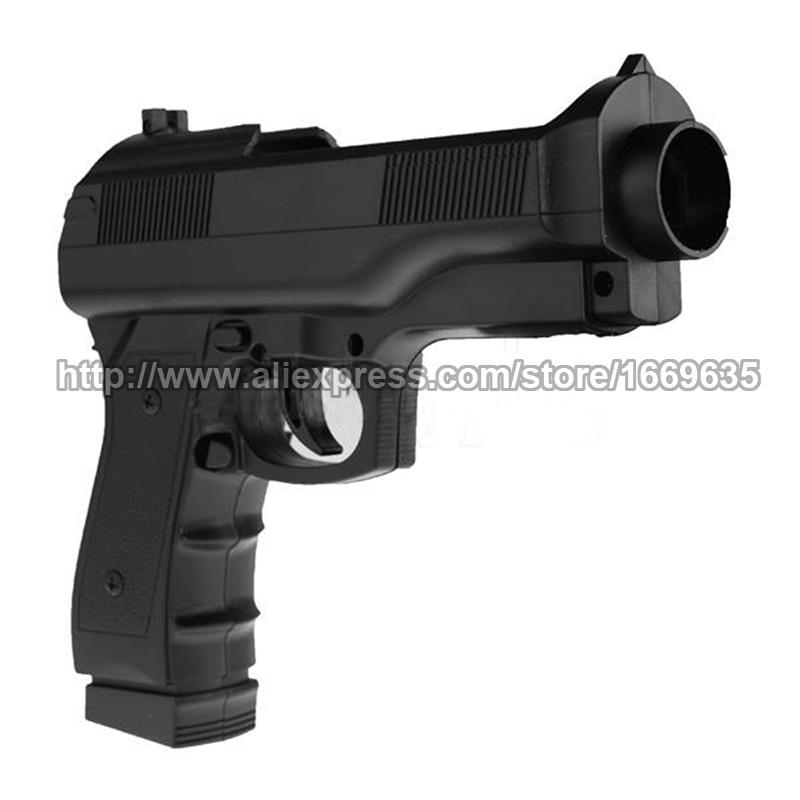 NEW Black Shooting Games Controller Light Gun Pistol Shell Case For Nintendo Wii(China (Mainland))