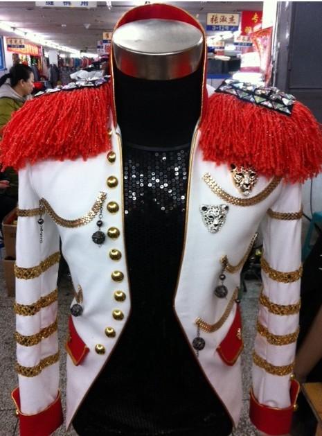 Men stage show epaulet stone jacket Korea metal bar atmosphere costume nightclub Dj custom clothing blazer singer outerwearОдежда и ак�е��уары<br><br><br>Aliexpress