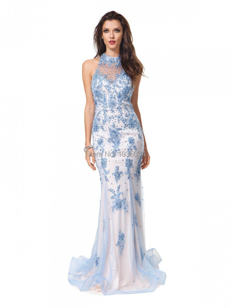 Online Buy Wholesale evening dress cool blue from China evening ...